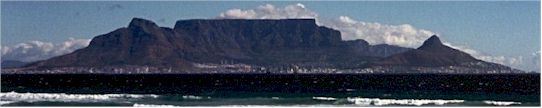 Cape Town city, view from Blouberg beach